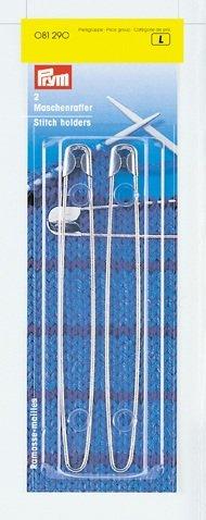 Inox stitch holder 2 ea. metal safety pin style