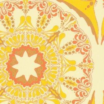 Suzani Mod, Lilliputs Fields, Tina Givens, FreeSpirit, Stylized Star and Circle Pattern