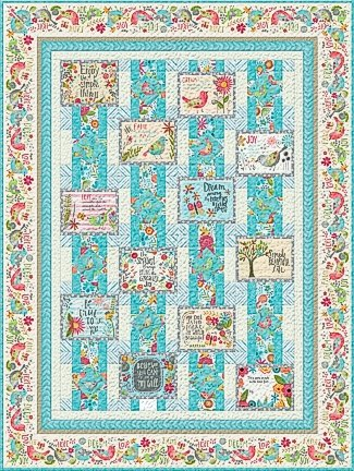 BELIEVE YOU CAN QUILT KIT BLUE/GRAY