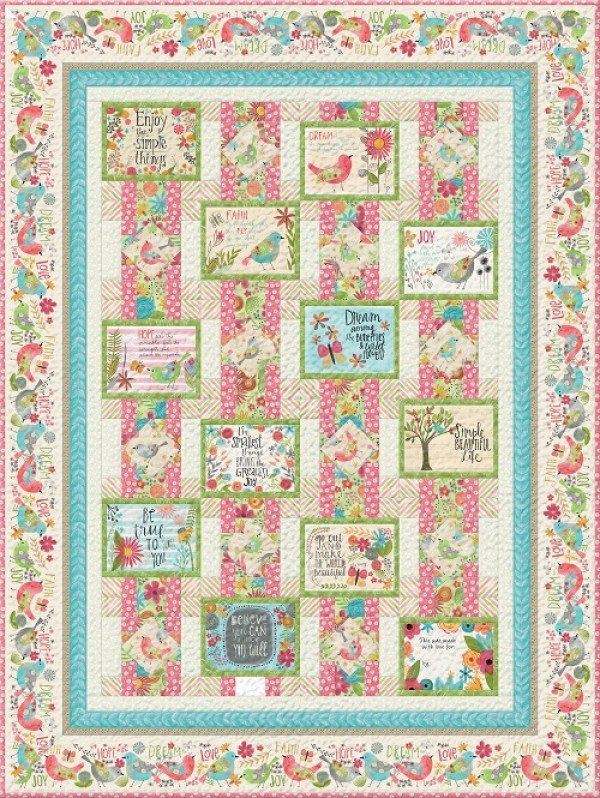 BELIEVE YOU CAN QUILT KIT PINK/GREEN