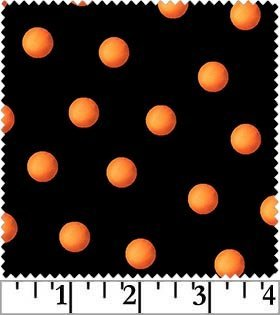 CHEEKY PUMPKINS-BLK/ORANGE DOT