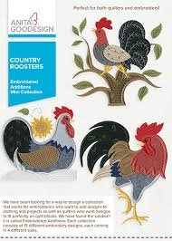 COUNTRY ROOSTER-EMBROIDERY ADDITIONS