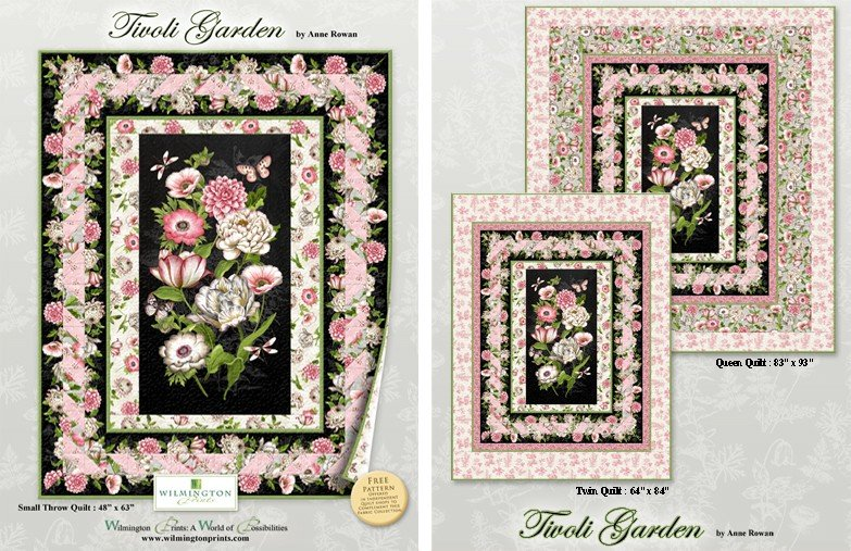 TIVOLI GARDEN QUEEN QUILT KIT