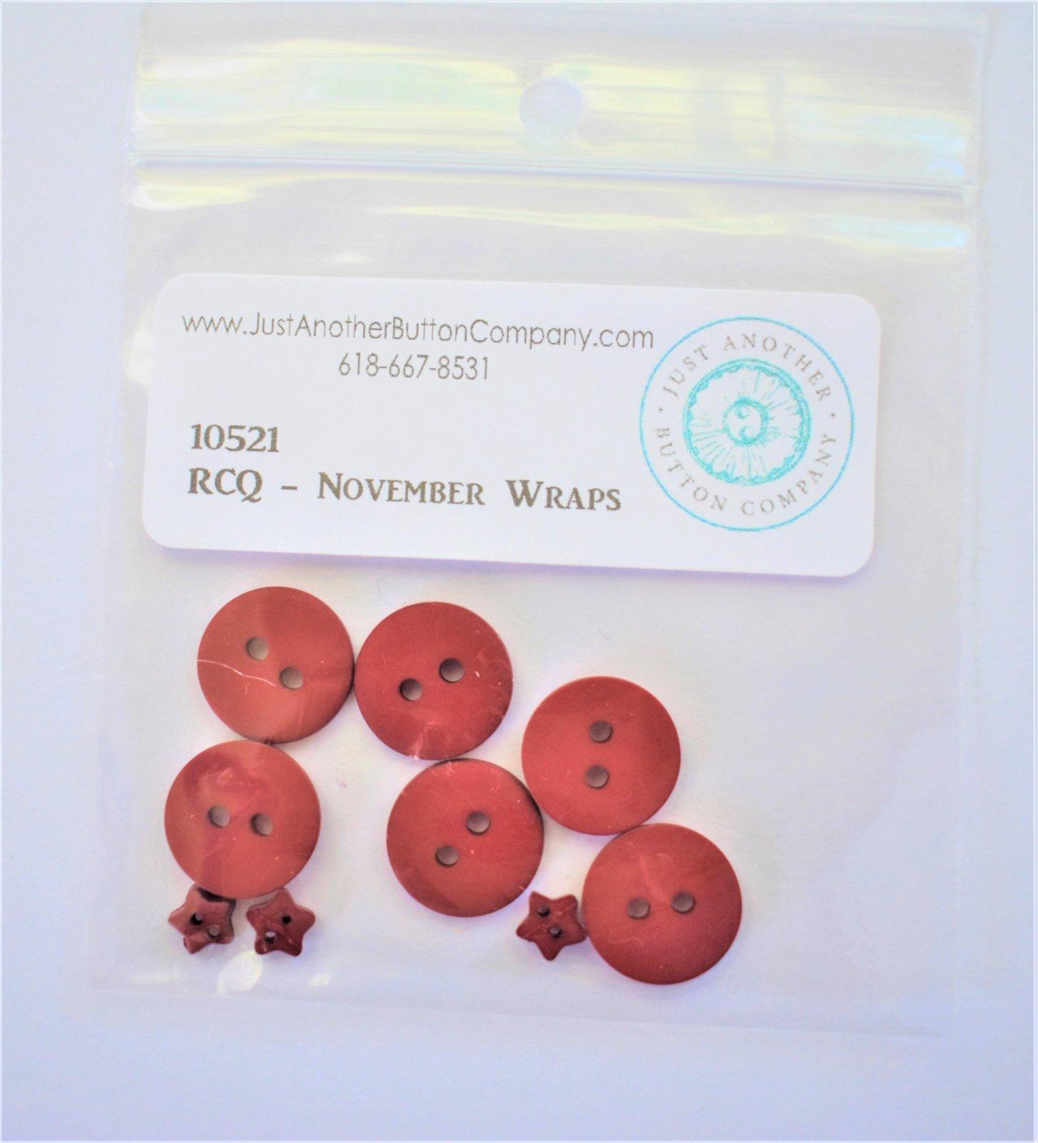 November Wraps - button pack