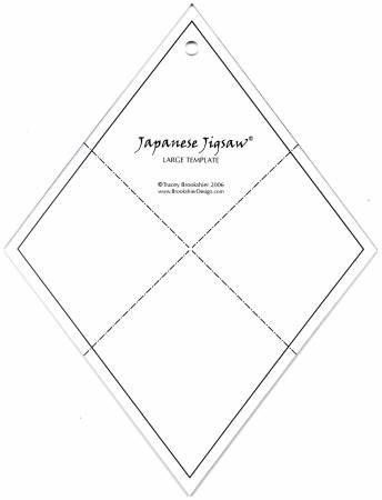 *Japanese Jigsaw Acrylic Template - Fat Quarters - 07733-T