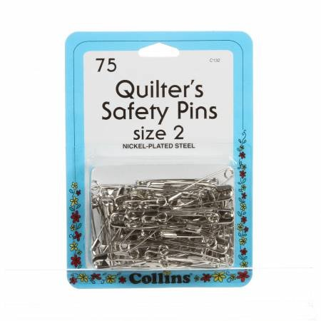 *Quilting Safety Pin 1 1/2in Size 2 75ct - 132C