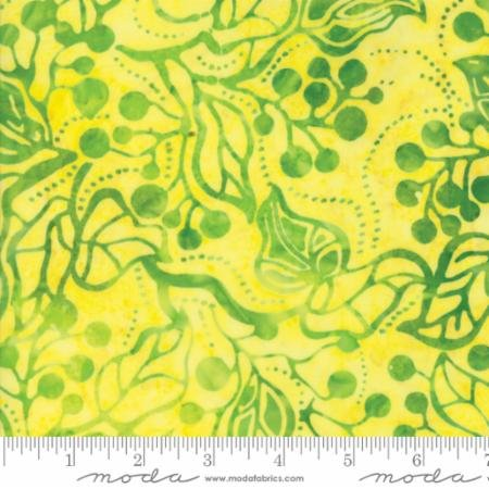 *Yellow Jungle Leaves and Berries Bonfire Batik - 4346 15