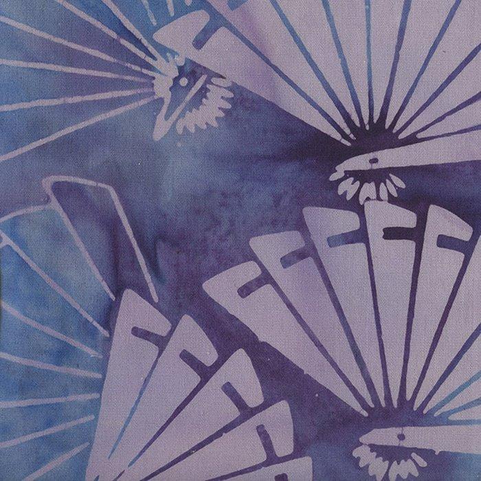 *Light Purple and Blue Fans Batik - 121413073