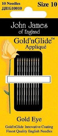 *John James Gold'n Glide Applique Needle #10 - JJEG10010