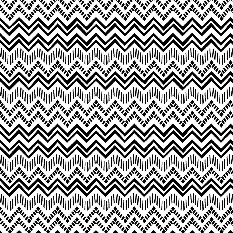 White/Black Zig Zag Stripe - 70450 199