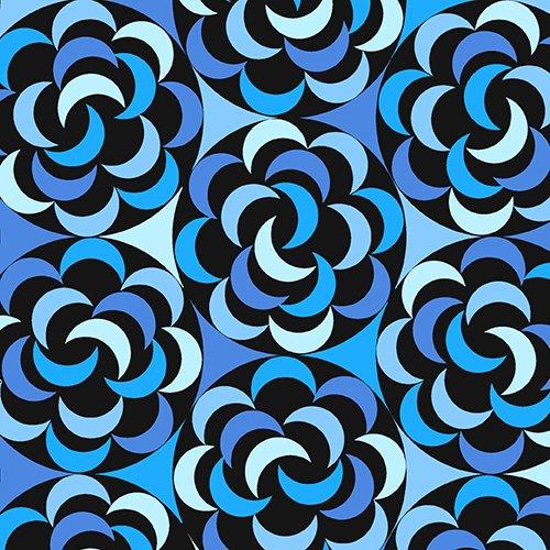 *Blue Floral - 7715-BK