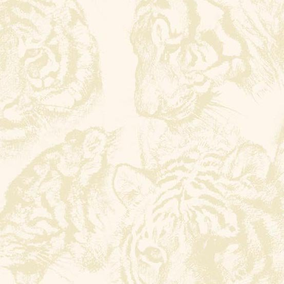 Ivory Tiger Silhouette- A-8698-L