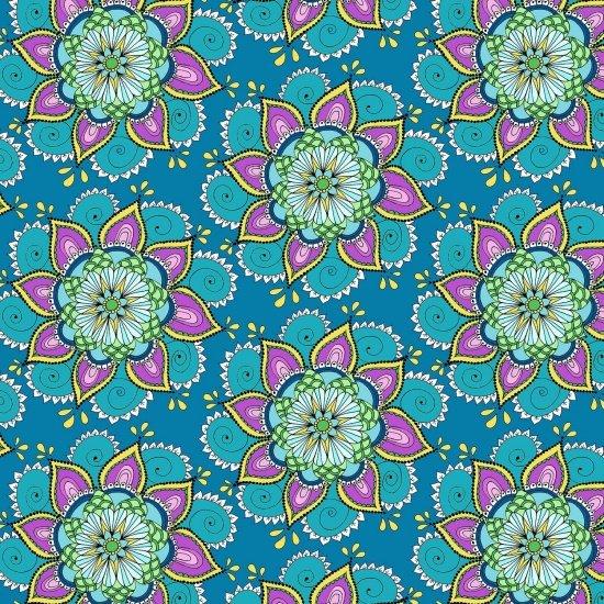 Blue Floral - 8139-077 Blue