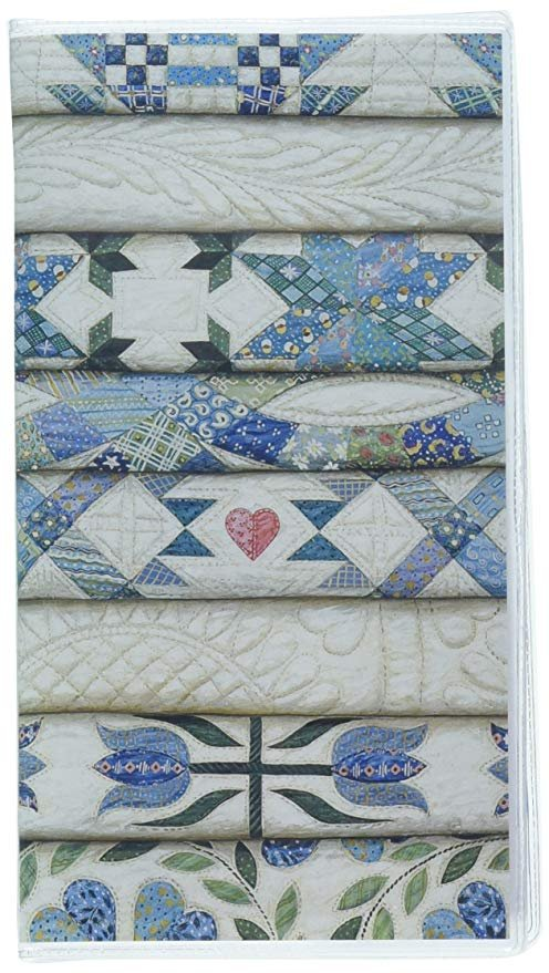 *It Takes Two RPP224 Rebecca Barker Stacked Blue Quilts 2 Year Pocket Calendar 2020-2021