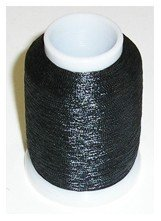 Yenmet Metallic Thread (Solid Black)   - 110-SN3