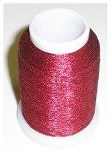 Yenmet Metallic Thread (Solid Cranberry)  - 110-SN11