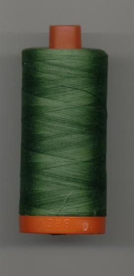 *Aurifil 50 wt. Cotton Mako Thread (Dark Grass Green) - 20051-2890