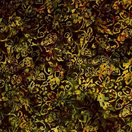 *Autumn Floral Batik - 9056