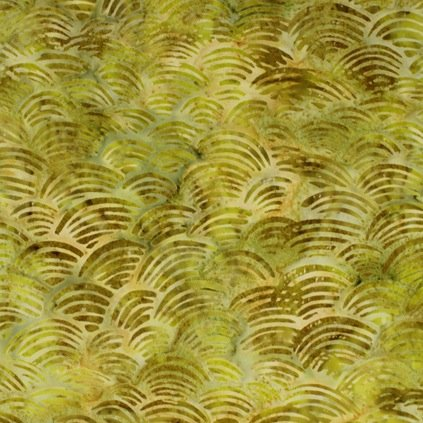 *Yellow Green Waves Batik - 9150