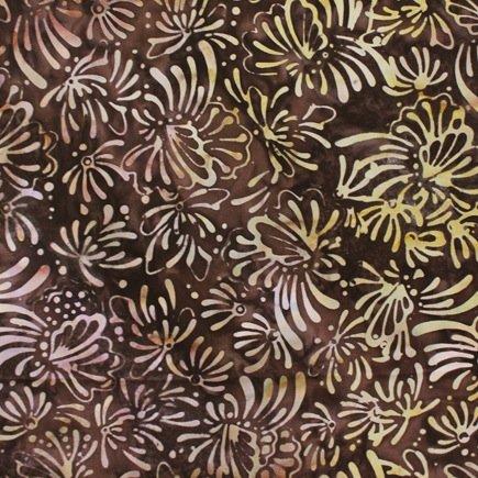 *Brown Floral Batik - 9208