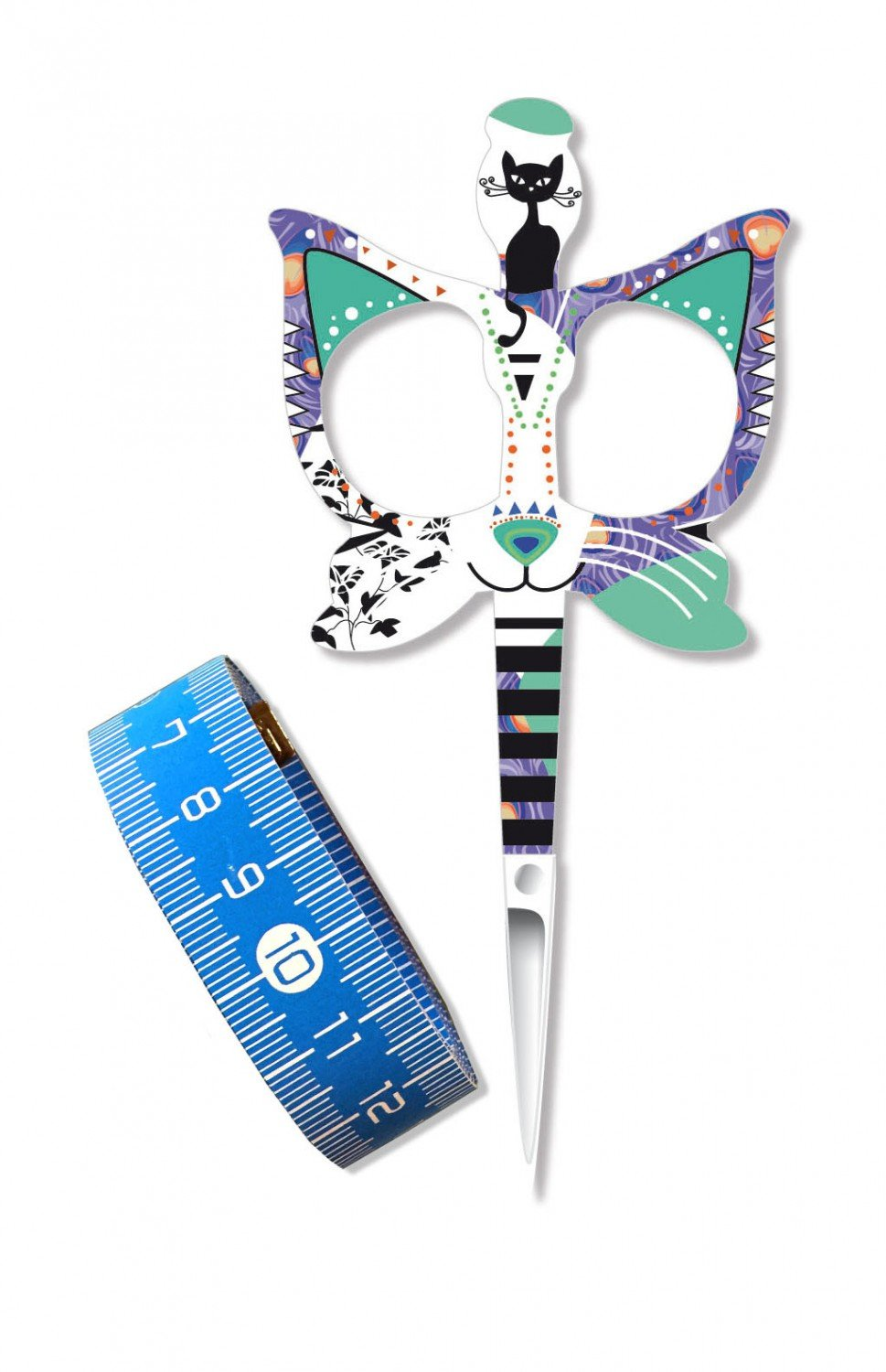 Blue Cat Scissor/Tape Measure - BH98570 - MAY BE RESTOCKED UPON REQUEST
