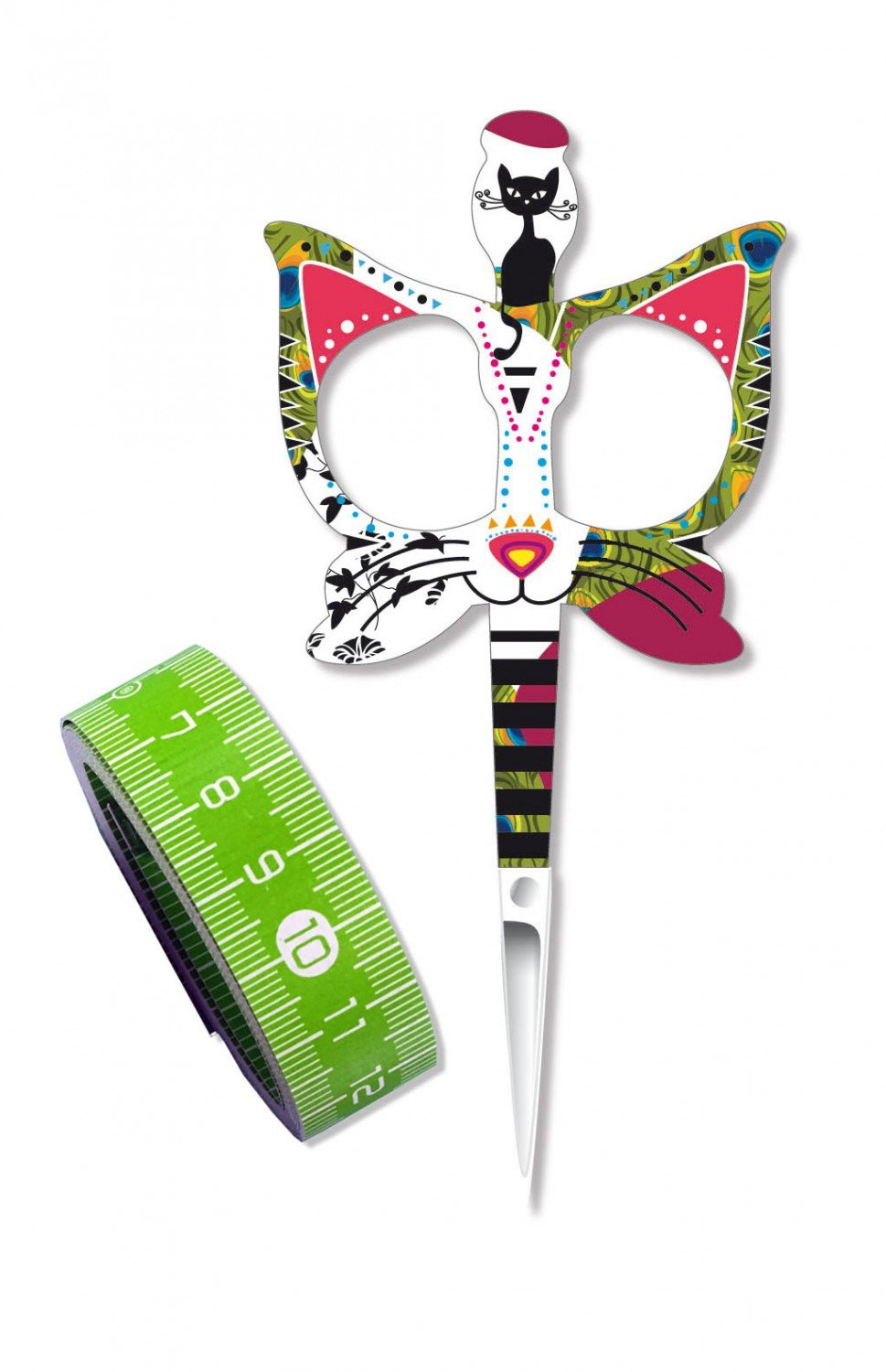 Green Cat Scissor/Tape Measure - BH98574  - MAY BE RESTOCKED UPON REQUEST