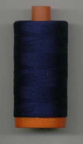 *Aurifil 50 wt 200m  Cotton Mako Thread (Midnight) - 20050-2745