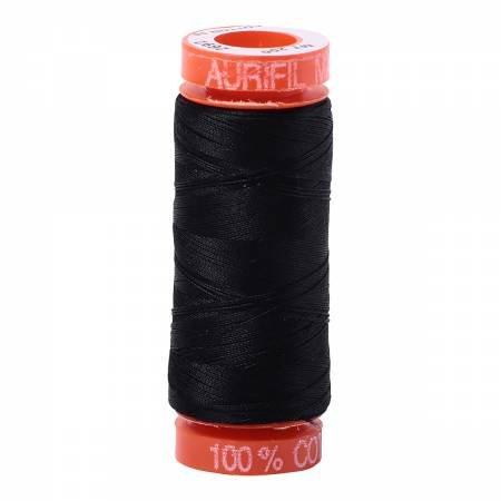 *Aurifil Mako Cotton Embroidery Thread 50wt 220yds Black - A20050102692