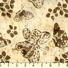 *Cream Butterfly Batik - 9149