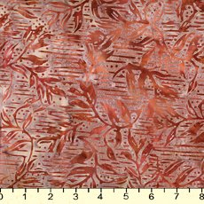 *Brown Lines and Leaves Batik - 9202