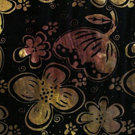 *Gold Daisy Flower Batik - 9220