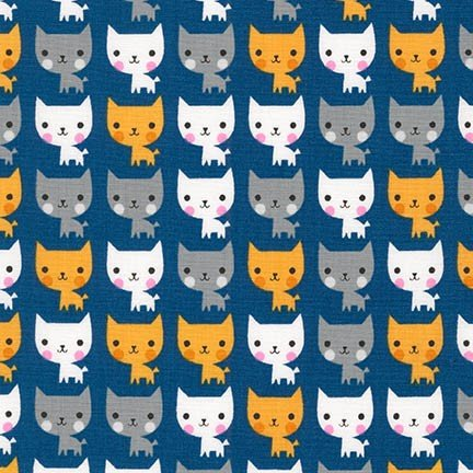 *Suzy's Mini Cats on Navy - ASD-16323-9
