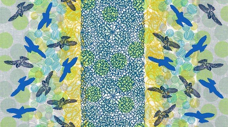 *Laguna Bird Stripe - AVW-17316-327