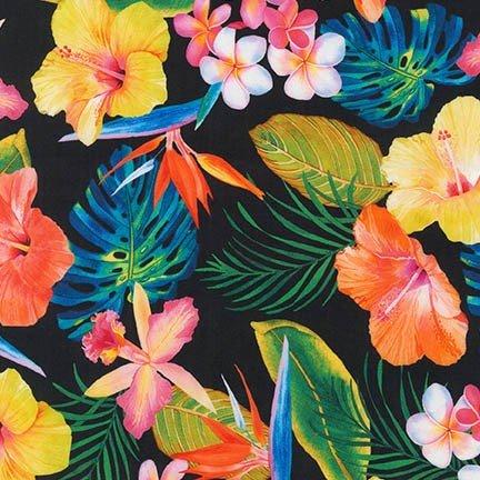 Black Tropical Flowers - AWH-17177-2