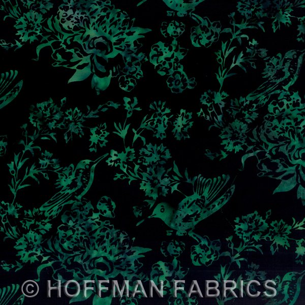 Verde Hummingbirds Batik - BF1-157