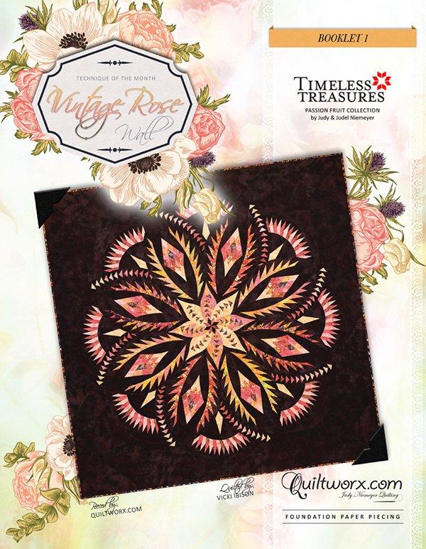 Vintage Rose Wall Quilt - JNQ00218P1-WSAS