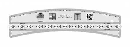 *Creative Grids Wave Quilt Ruler 12in - CGRWAVE