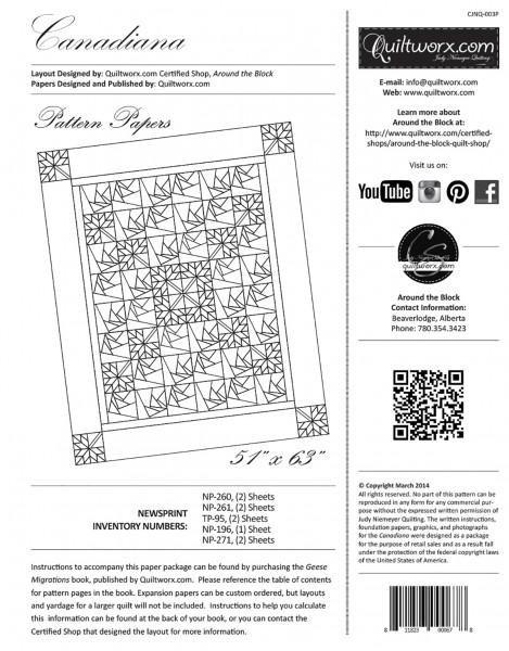 Canadiana Foundation Paper Pack - CJNQ003P