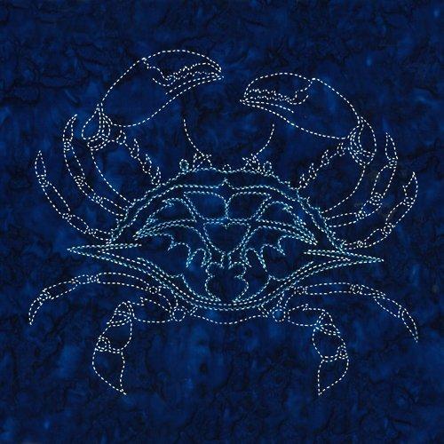 Crab Sashiko Panel  - SKCRABSL - MAY BE RESTOCKED UPON REQUEST