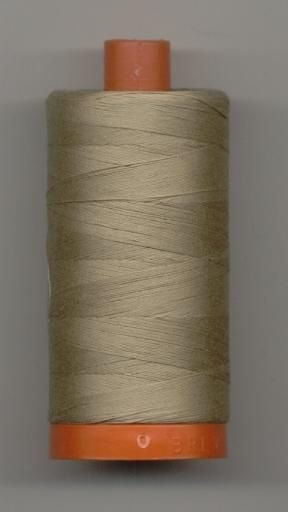 Aurifil 50 wt. Cotton Mako Thread (Rope Beige) - 200y - 20051-5011