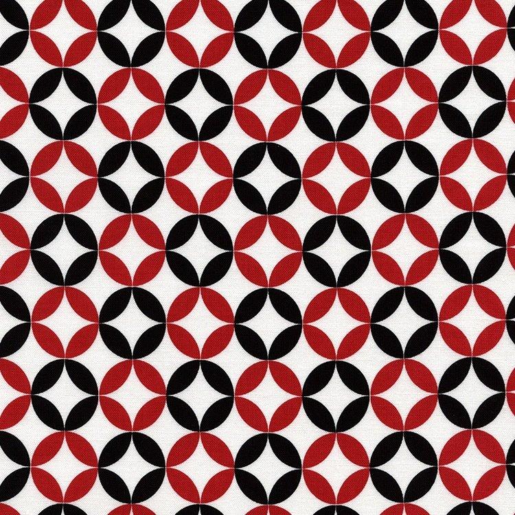 *Red, Black and White Geometric - C3851