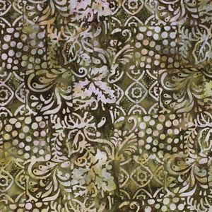 *Brown Leaf and Dot Batik - 9144