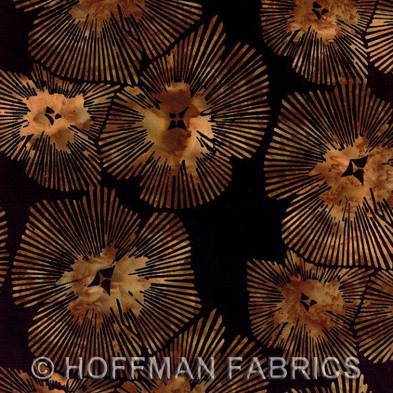 *Antique Abstract Black Floral Batik - J2378-A4