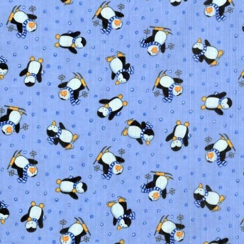 Sky Flannel Penguins - F6612S