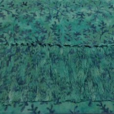 Batik Rayon Scarf - Teal Leaves - SCRS-4 MAY BE RESTOCKED UPON REQUEST
