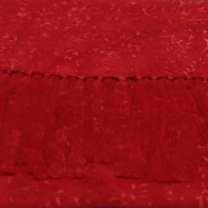 Batik Rayon Scarf - Red Sprigs - CCRS-7 - MAY BE RESTOCKED UPON REQUEST