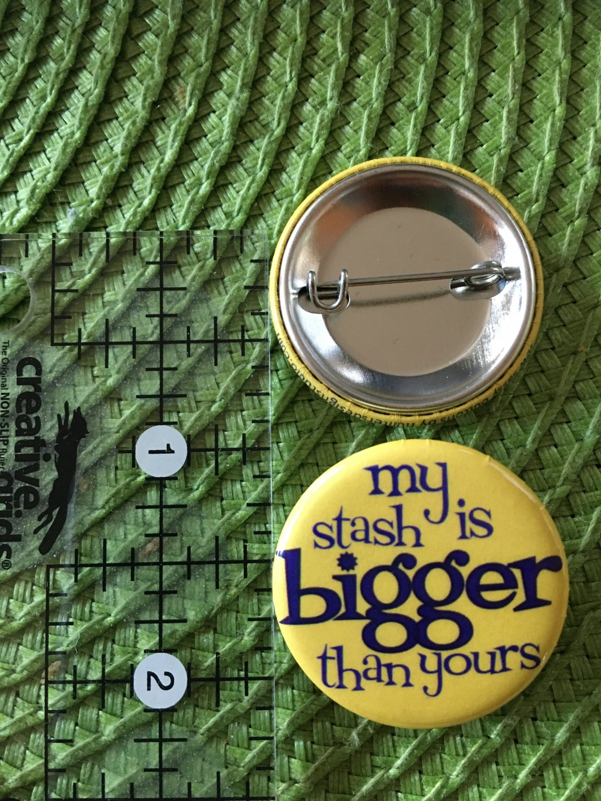 *Sew Sassy Button - my stash is bigger than yours - MSIBTY