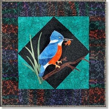 Kingfisher Applique Pattern - 50010