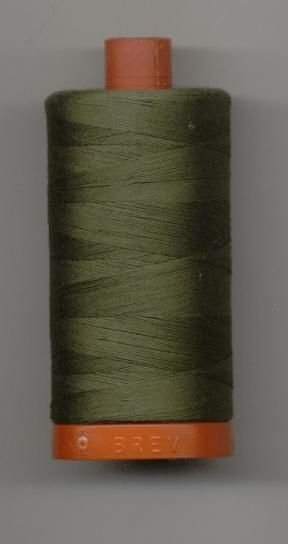 *Aurifil 50 wt. 200m Cotton Mako Thread (Army Green) - 20050-2905