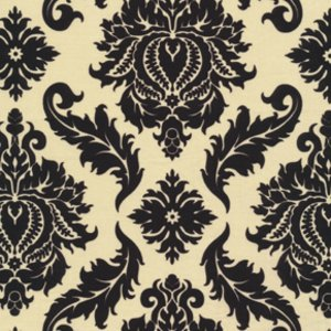 Black and Yellow Damask - JD43